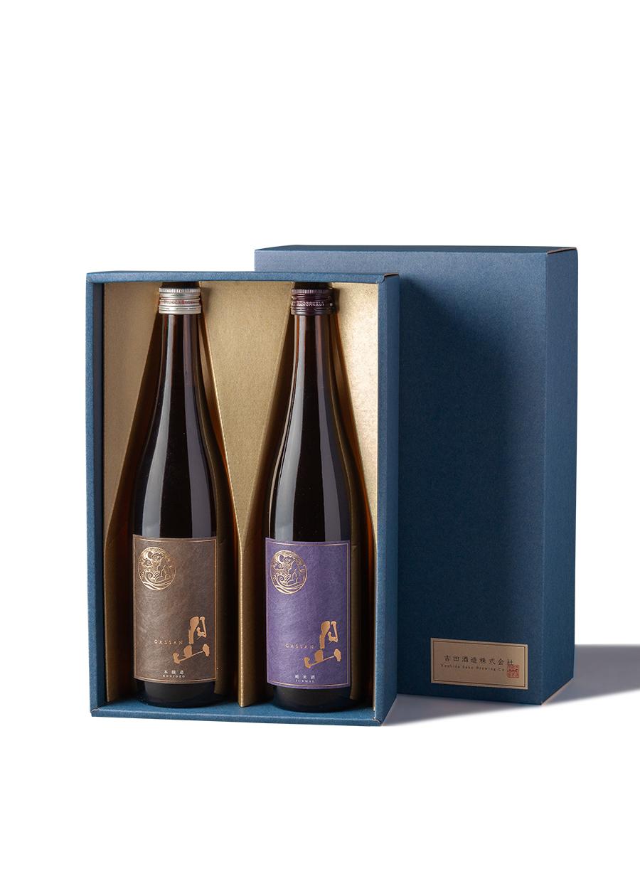 純米酒・本醸造<br>720ml 2本セット<br>【箱入】